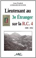 Lieutenant au 3e Etranger sur la R.C.4