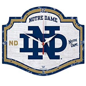 Buy Ncaa College Vault Notre Dame Fighting Irish High Definition Clock by WinCraft