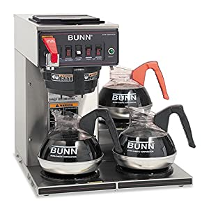 Bunn 12950.0212 CWTF15-3 Automatic Commercial Coffee Brewer with 3 Lower Warmers from EMG East, Inc. (direct order)