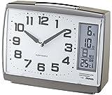 NOA (ノア)  温度表示付き 目覚まし時計 デイトインパクト ガンメタリック T-657 GUM