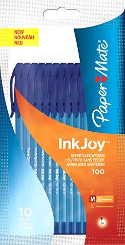 paper-mate-inkjoy-100-kugelschreiber-mit-kappe-medium-10er-pack-blau