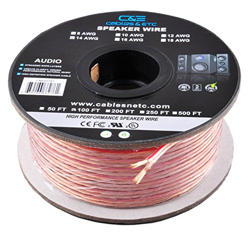 C&E 100 Feet 12AWG Enhanced Loud Oxygen-Free Copper Speaker Wire Cable, CNE62270