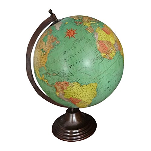 Indiangiftstore buy indiangiftstore products online in oman antique globe 175 tall indian vintage style table top decorative handmade iron stand home decor world map designer 12 plastic ball globe gift gumiabroncs Images
