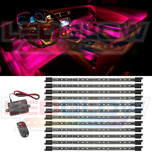 12pc Pink Expandable Smd Led Interior Lighting Kit Eleanocvvinogradova