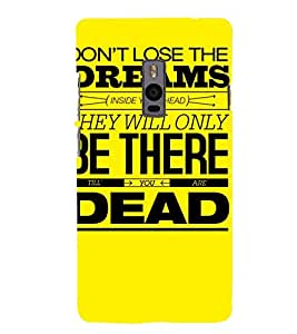 MEANINGFULL QUOTE IN A YELLOW BACKGROUND 3D Hard Polycarbonate Designer Back Case Cover for One Plus Two :: One Plus 2 :: One+2 :: OnePlus 2