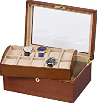 Auer Accessories Leda 110DM Watch Box for 10 Watches Removable tray