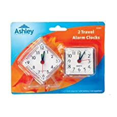 2 TRAVEL ALARM CLOCKS MINI PORTABLE HOLIDAY ANALOGUE PERSONAL
