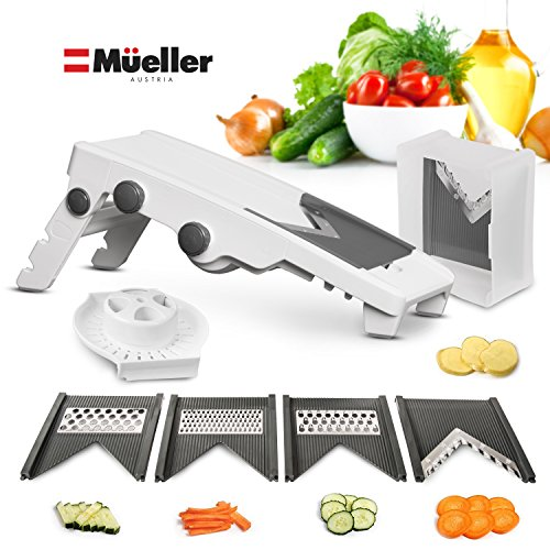 Mueller V-Pro 5 Blade Mandoline Slicer - German Quality, Professional Grade Vegetable Julienner - Patented Design for Maximum Adjustability (Restaurant Slicer compare prices)