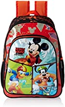 """Mickey Mouse Polyester Children's Backpack (ACT MK 1501 18""""-RED)"""