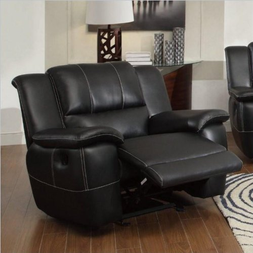 Coaster Lee Motion Glider Recliner-Black
