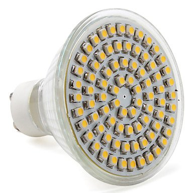 Gu10 80X3528 Smd 3.5-4W 220-250Lm 2800-3300K Warm White Light Led Spot Bulb (220-240V)