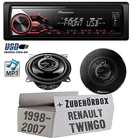 Reanult twingo à partir de 1998)-sound pioneer mVH - 180UB & - 10-tS g1033i de montage