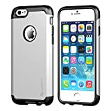 iPhone 6 Case, LUVVITT® ULTRA ARMOR iPhone 6 Case / Best iPhone 6 Case for 4.7 inch Screen Air | Double Layer Shock Absorbing Silver iPhone 6 Case Cover (Does NOT fit iPhone 5 5S 5C 4 4s or iPhone 6 Plus 5.5 inch screen) - Black / Silver
