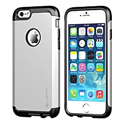 iPhone 6/6s Case, LUVVITT [Ultra Armor] Shock Absorbing Case Best Heavy Duty Dual Layer Tough Cover for Apple iPhone 6 / iPhone 6s - Black / Silver