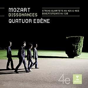 """Mozart : Quatuors à cordes n° 15 et n° 19 """"Les Dissonances"""" - Divertimento"""