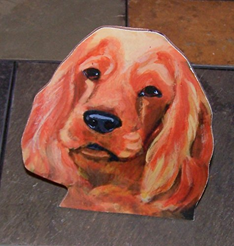 "Golden Retriever Dog Hand Made Painted Wood Shelf Sitter 5"" To 6"" Tall"