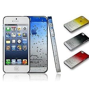 Hot Gradient Regen-Tropfen Klar Transparent Tasche für iPhone5/5s ( Farbe : Gelb )