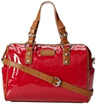 Franco Sarto Catherine Duffle Top Handle Bag,tomato,One Size