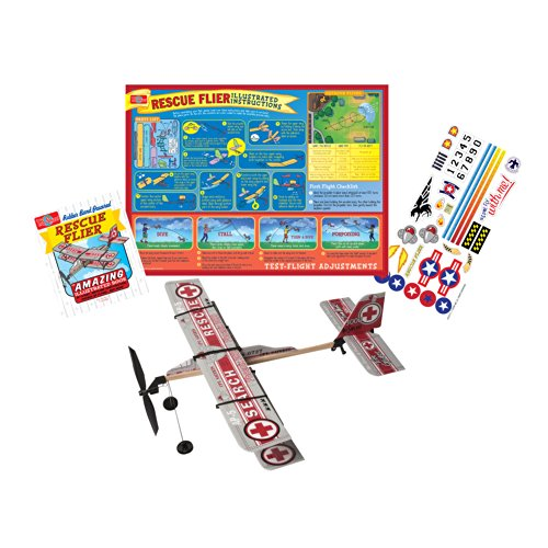 T.S. Shure Rubber Band Powered Rescue Flier Model Plane Kit