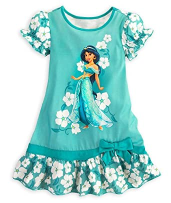 Disney store girls princess jasmine nightgown size xs 4 aladdin ruffled nightshirt - Robe jasmine disney ...