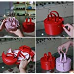 Adorable Princess European style pink petals tai chi jewelry box cosmetic box 2 choices (2 pcs pink+red)