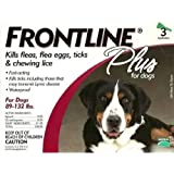 Frontline Flea Control Flea Control Plus for Dogs And Puppies 89-132 lbs 3 Pack