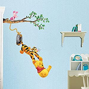 Great Value Wall Decor Cute Tiger Cartoon Pattern Children Graffiti Removable Wallpaper from Mzamzi