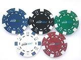 【IATA Golf】 見つけやすい! 大きい ポーカー チップ ゴルフ マーカー ラウンド 用品 マーク (5色セット(5枚))
