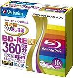 Verbatim Blu-ray BD-RE DL RW Re-writable 50GB 2x Speed Inkjet Printable Rewritable Format Ver. 2.1 (Japan Import) - 10 Discs in Slim Jewel Case (Sealed Pack). MADE IN JAPAN