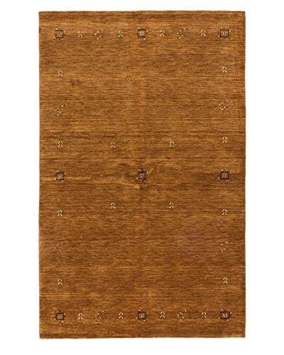 Hand-Knotted Kashkuli Gabbeh Rug, Light Brown, 4' 10 x 7' 9