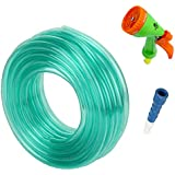 Truphe Garden Water Pipe, Garden Hose Water Pipe, PVC Pipe - 0.5 Inch / 10 Meters Garden Pipe With 5 Way Water...