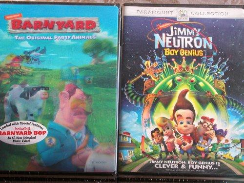 Barnyard Movie Bonus Pack!! With Jimmy Neutron- Boy Genius!! 2 Movies!!!