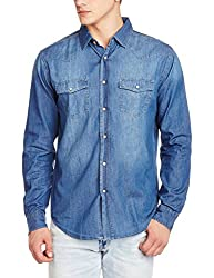 Fox Men's Casual Shirt (439034110444_439034_Small_Jeans)