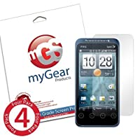 myGear Products DiamondDust Screen Protector Film for HTC EVO Shift - (4 Pack) Diamond