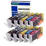 ink4work Set of 10 Pack PGI-250XL & CLI-251XL Compatible Ink Cartridge Set for Pixma IP7220, MG5420, MG6320, MX722, MX922