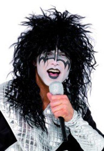 Kiss Fancy Dress Wig, Makeup & Microphone Kit