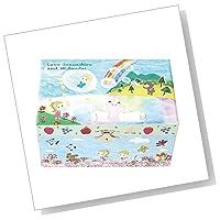 【Lily&Ally】 誕生日 プレゼントにぴったり / リリーアンドアリー ふくしまのたからばこ オルゴール付き 宝箱 Fukushima Treasure Box (曲目:童謡 ふるさと 故郷 古里) オルゴール ふるさと Musical Children's Jewelry Box