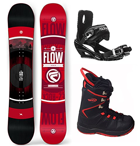Flow 2017 Vert Men's Complete Snowboard Package Bindings+Boots 4 YR WARRANTY - Board Size 154 (Boot Size 11.5 (45)) (Flow Snowboard Packages Mens compare prices)