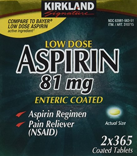 Kirkland Low Dose Aspirin (81mg x 2 x 365 enteric