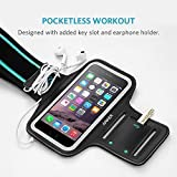 iPhone 6s Armband, Anker Sport Armband for iPhone 7/ 6 / 6s (4.7 inch) for Sports, Running, Jogging, Walking, Hiking, Workout and Exercise, Sweat-Free High-Quality Neoprene with Headphone and Key Slots and 2 Extra Cuttable Velcro Strips