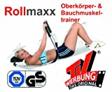Rollmaxx Bauchtrainer Fitness Muskeltrainer Roll Maxx Geschenk Marke Crane von