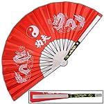 Tessen-Jutsu Iron Fan Weapon Dragon Red from Armory Replicas