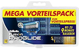 Gillette Fusion ProGlide Cuchillas de Value Pack, 12 unidades
