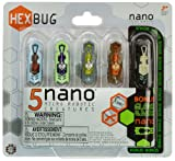 HEXBUG Nano Newton Calculus 5-Micro Robotic Creature Pack (4 Color Nano + 1 Glow in the Dark Nano)