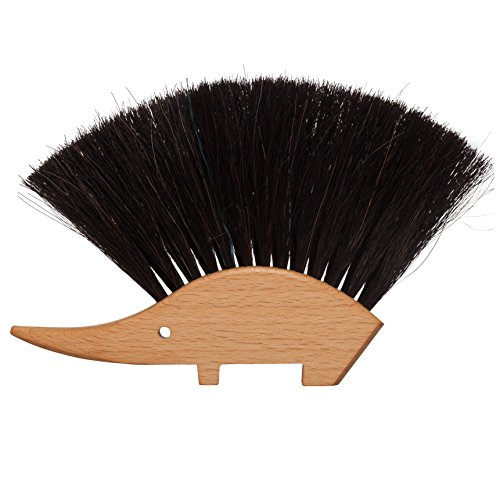 Bürstenhaus Redecker Hedgehog Table Brush, Natural Horsehair Bristles, 4-1/2 by 5-1/2 Inches (Hedgehog Hair Brush compare prices)