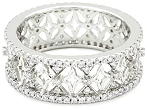 "Katie Decker ""Baroque"" 18k White Gold and Diamond Band"