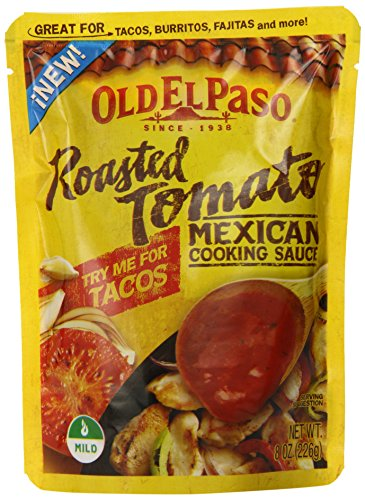 Old El Paso Mexican Cooking Sauce, Roasted Tomato, 8 Ounce (Pack of 8) image