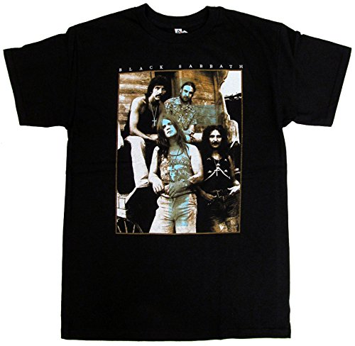 BLACK SABBATH Iommi Geezer Ozzy Black T-shirt S-2XL (L)