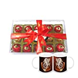Chocholik Luxury Chocolates - 15pc Attractive Treat Of Truffles With Diwali Special Coffee Mugs - Gifts For Diwali