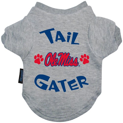 [NCAA Mississippi Old Miss Rebels Tail Gater Pet T-Shirt, X-Large, Gray] (Miss World National Costume)